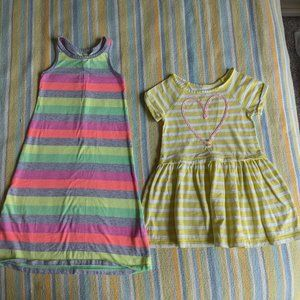 Lot of 2 Target striped knit dresses 3T